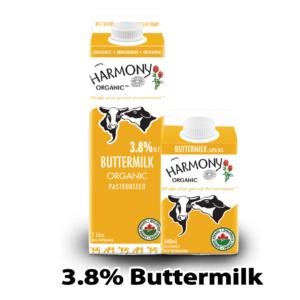 Harmony Organic Buttermilk 1L