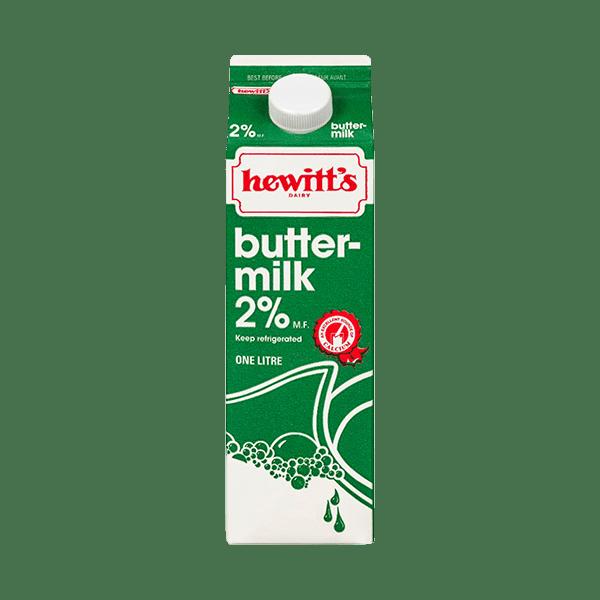 Hewitt's Buttermilk 2% 1L 2