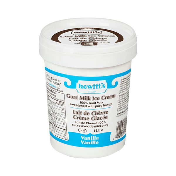 Hewitt's Goat Ice Cream 1L Tub 2