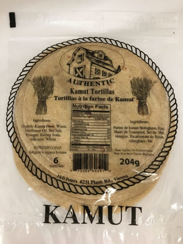 J&D Peters Kamut Tortillas 3