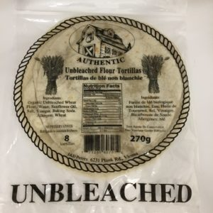 J&D Peters Unbleached Flour Tortillas
