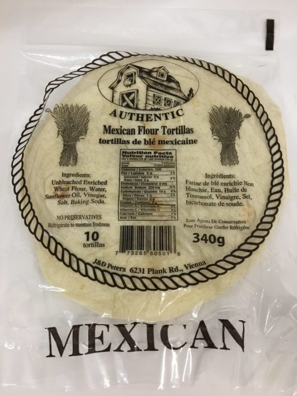 J&D Peters Mexican Tortillas 3