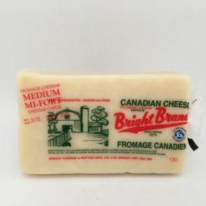 Bright Cheddar Cheese – White