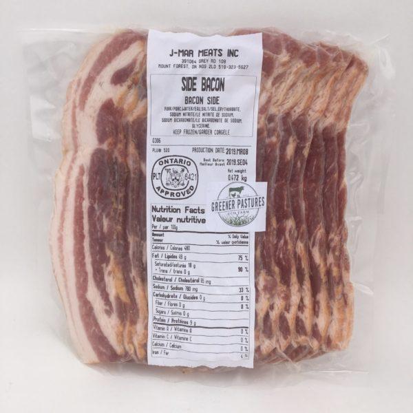 Greener Pastures Side Bacon 1lb - Heritage Pastured Pork 3