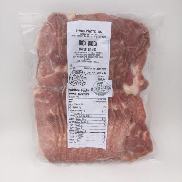 Greener Pastures Back Bacon 1lb - Heritage Pastured Pork 3