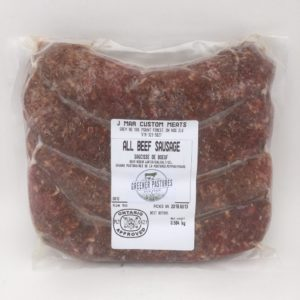 Greener Pastures All Beef Sausage – 100% Grass Fed