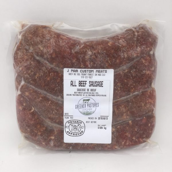 Greener Pastures Beef Garlic Sausage - 100% Grass Fed 3