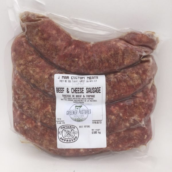 Greener Pastures Beef & Cheese Sausage - 100% Grass Fed 2