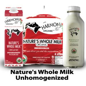 Harmony Organic Unhomogenized