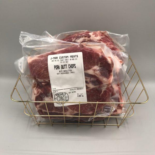 Greener Pastures Pork Butt Chops 3lbs - Heritage Pastured 3