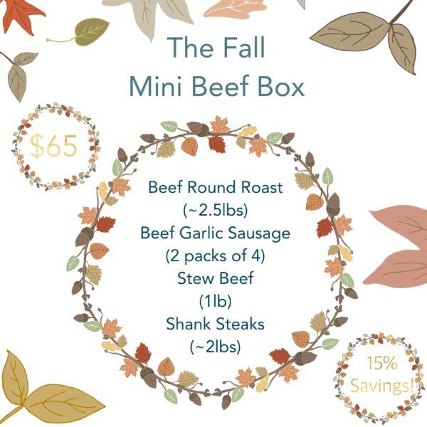 Greener Pastures Fall Mini Beef Box - 100% Grass Fed 2